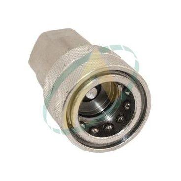 Coupleur hydraulique femelle à clapet ISO-A