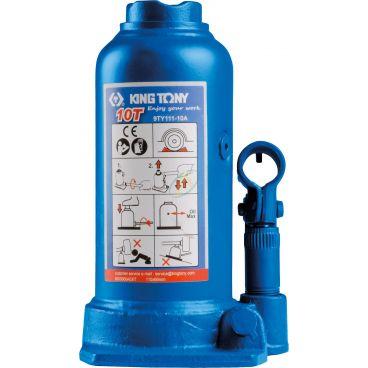 Cric bouteille hydraulique à vérin à un étage et rehausse sur colonne 10 Tonnes