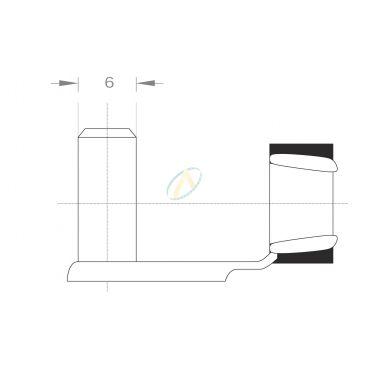 Axe acier pour fourche diamètre 6 mm