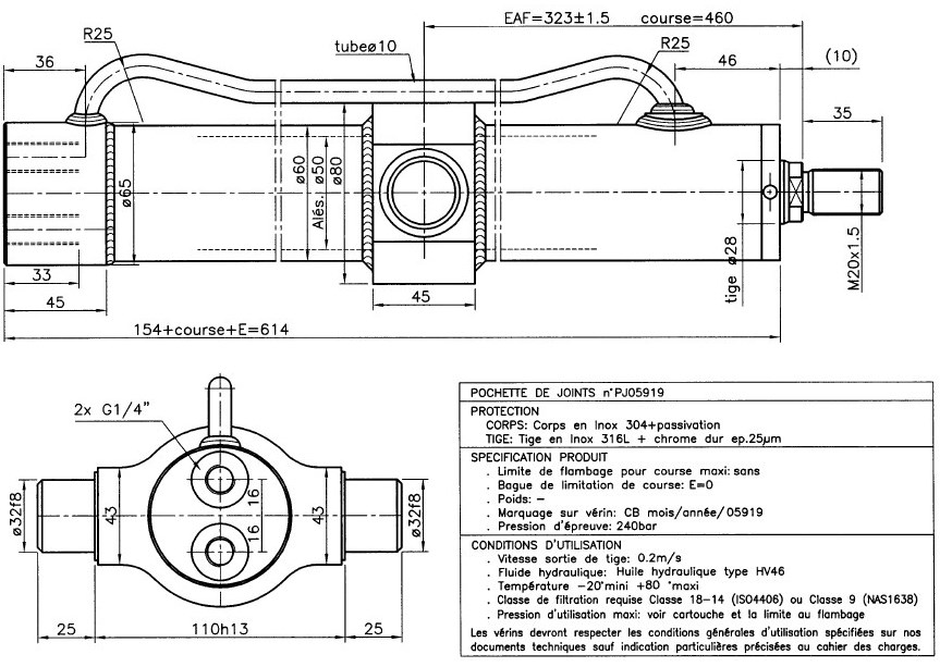 bobcat t190 hydraulic diagram bobcat image wiring hydraulic cylinder double acting stroke 460 mm inox hydrodis on bobcat t190 hydraulic diagram