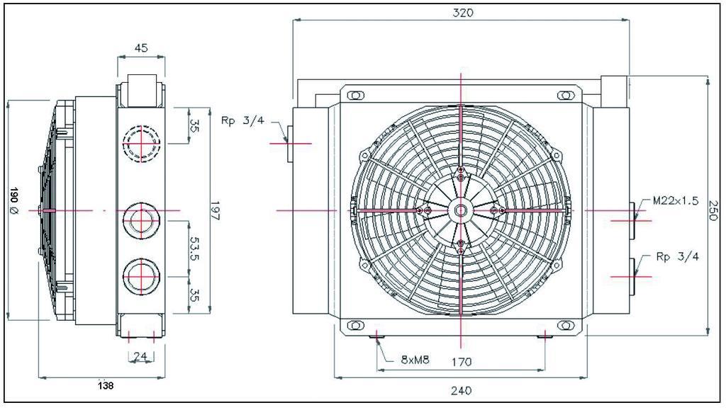 schéma échangeur thermique 15 80 litres/minute