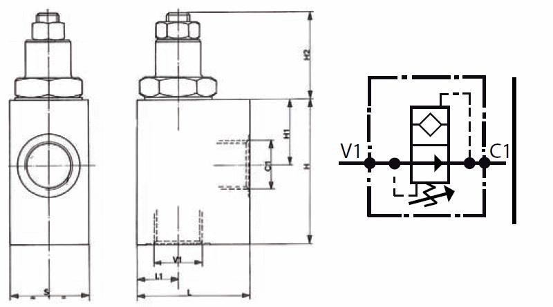 Schéma valve de blocage réglable