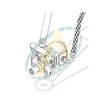 Pompe 65 cm3 avec support et flexibles pour ensemble de suppression de cardan