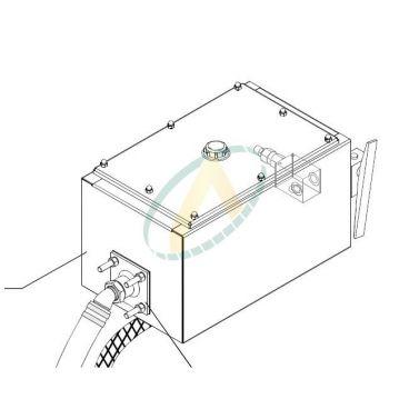 Réservoir hydraulique 35 litres avec accessoires pour ensemble de suppression de cardan