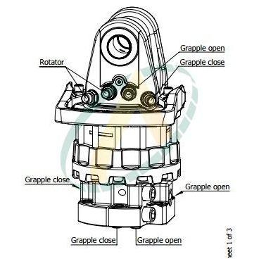 Rotator à platine 16 tonnes, 4 orifices
