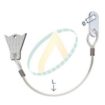 Cable de sécurité STOPFLEX - Diamètre 12.5 mm - Longueur 450 mm - Pour bride SAE 3000 & 6000