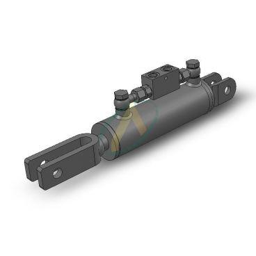 Vérins double effet pour correcteur de devers - Entraxe 410 mm - Course 110 mm