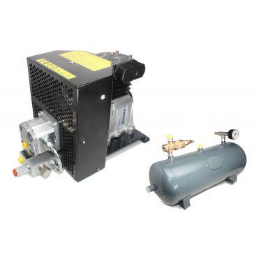 Compress'air hydraulique de capacités 15m3/heure avec une cuve de 50 litres