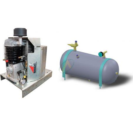 Compress'air hydraulique de capacités 60 m3/heure avec cuve 50 litres