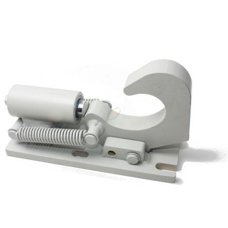 Crochet de verrouillage, axe de diamètre 40 mm, avec sécurité et ressort