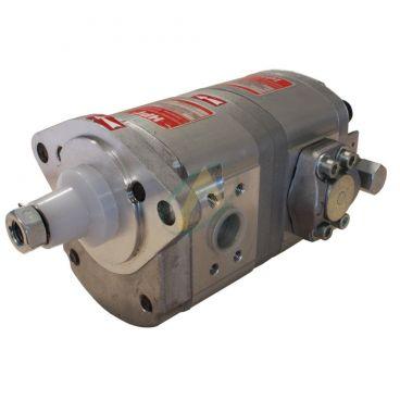 Pompe hydraulique double 15+6 cm3 pour tracteur LOISEAU