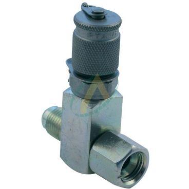 Prise de pression M16x200 en Té - Implantation JIC mâle/femelle - Pour piquage en ligne