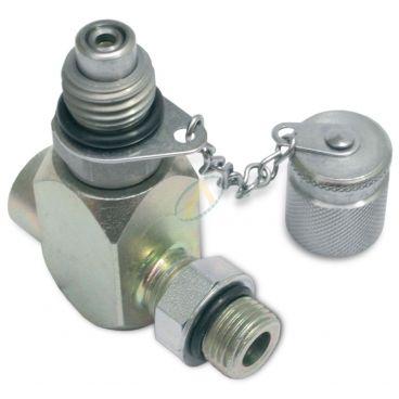 Prise de pression M16x200 en Té - Implantation SAE mâle/femelle - Pour piquage en ligne
