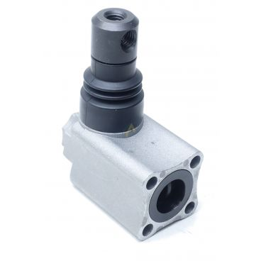 Tête de commande fixation 4 trous entraxe 24x24mm pour levier M8