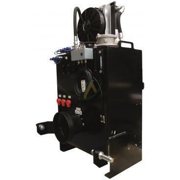 Groupe hydraulique vigneron 80 litres, 40 l/min avec refroidisseur et régulateur de débit