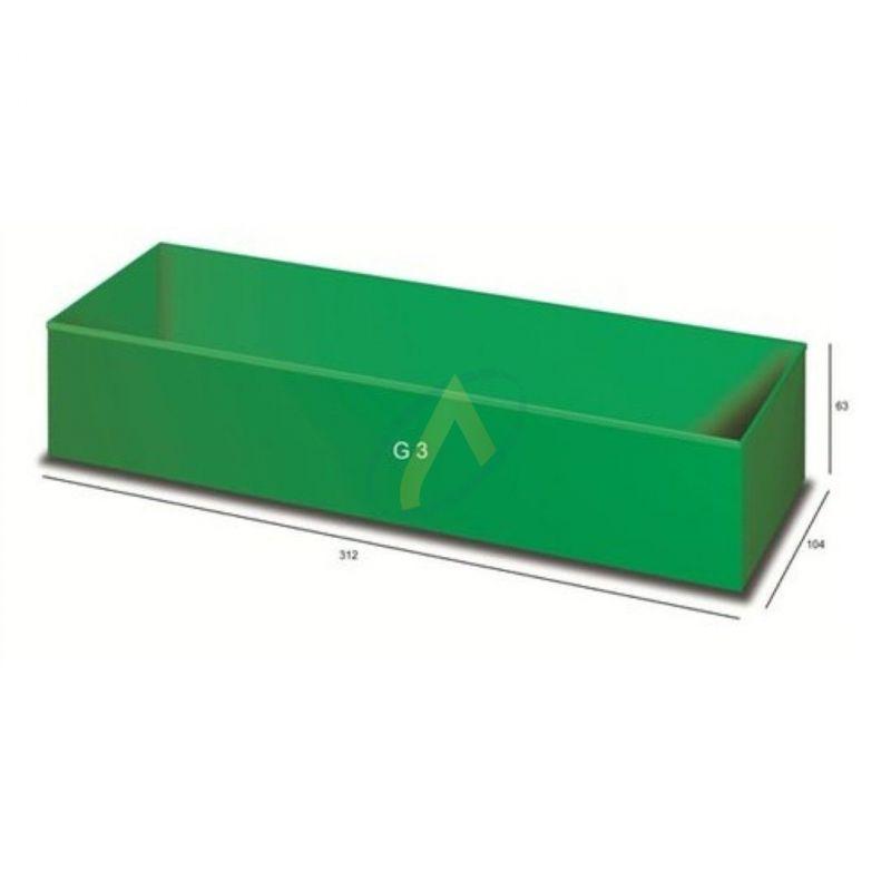 Bac vert foncé pour mallette incassable