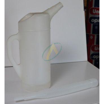 Broc à huile plastique 2 litres avec rallonge