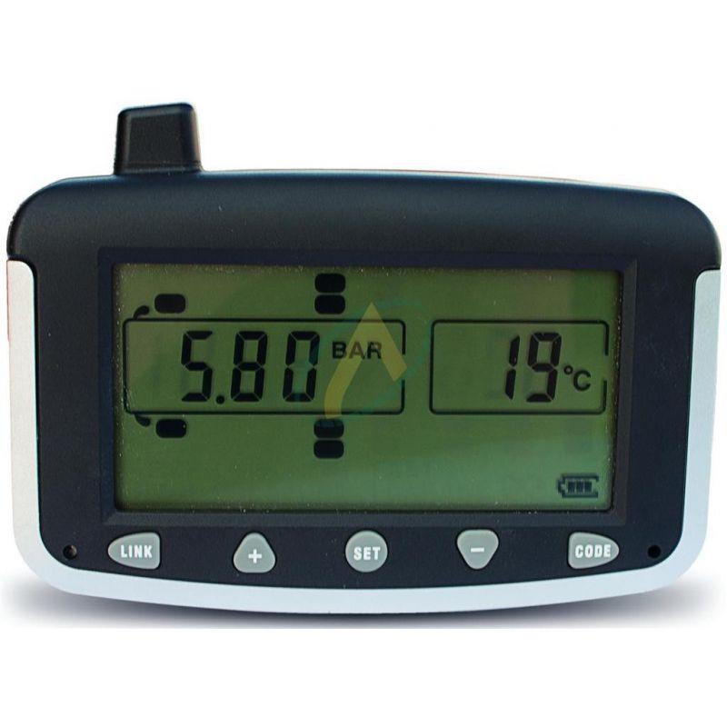 Kit de contrôle de pression et de température des pneus sans fil.