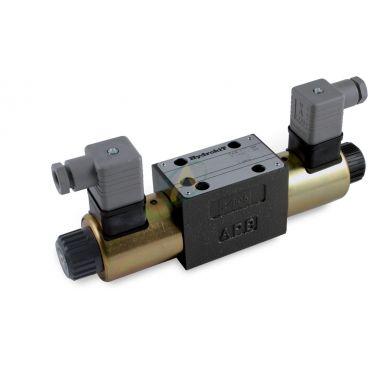 Distributeur CETOP 3 12 volts à commande électrique ISO 4401