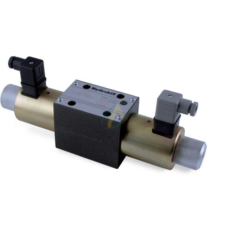 Distributeur CETOP 5 24 volts à commande électrique ISO 4401