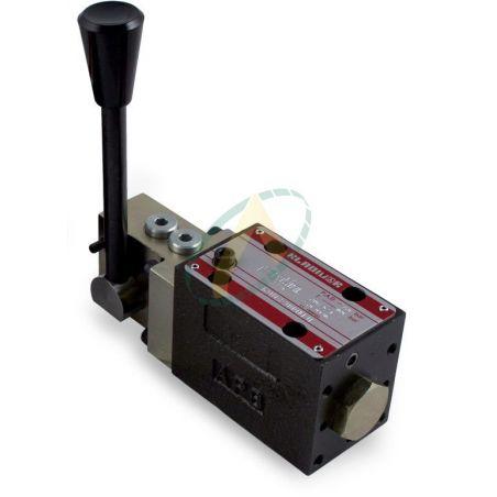Distributeur CETOP 3 volts à commande manuelle ISO 4401