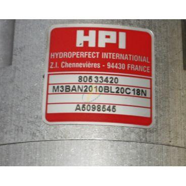 Moteur hydraulique 10 cm3 flasque 2 trou arbre cylindrique de 15 mm
