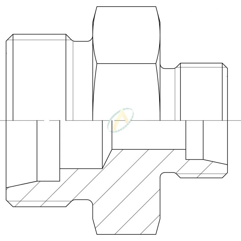 Réducteur droit mâle 10L DIN - mâle 8L DIN