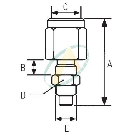 Raccord pour manomètre (Montage passe cloison) diamètre 63