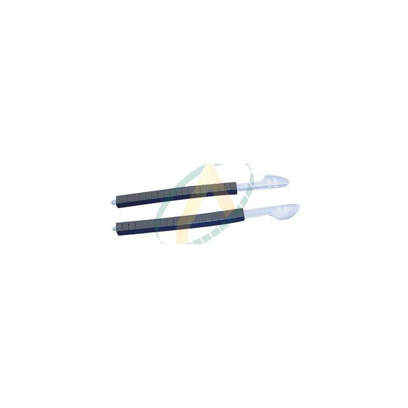 10 barettes de 20 verrous noirs en résine acétale pour pince à colliers