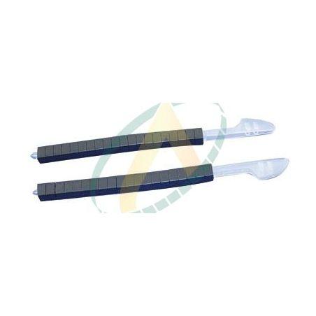 10 barrettes de 20 verrous noirs en résine acétale pour pince à colliers