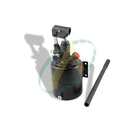 Pompe hydraulique manuelle simple effet 16 cm3, 320 bars, avec réservoir 4 litres