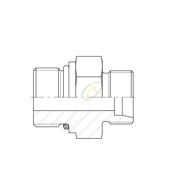 Adaptateur droit mâle 12L DIN - mâle 9/16 SAE