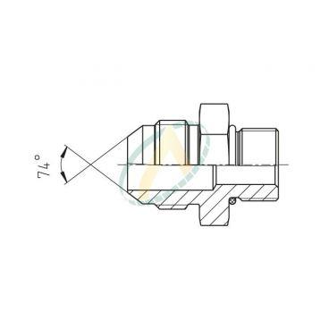 Adaptateur droit mâle 3/4 JIC - mâle M18X150
