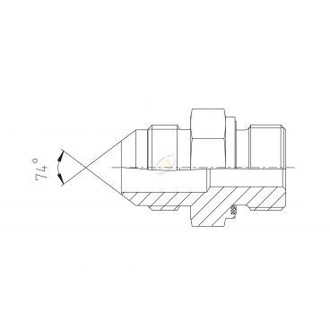 "Adaptateur droit mâle 1""1/16 JIC - mâle M27X200"
