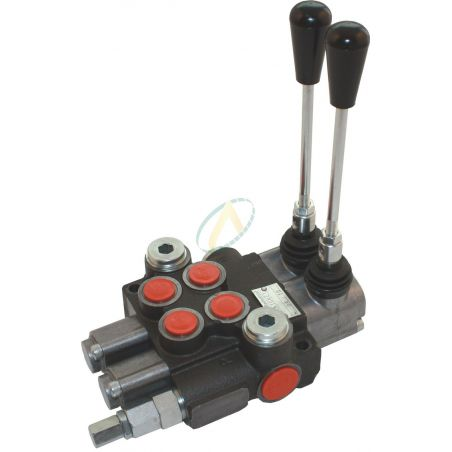 Distributeur hydraulique manuel monobloc 40 l/min 2 fonctions