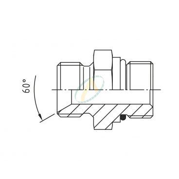 Réducteur droit mâle 1/8 BSPP - mâle 7/16 SAE