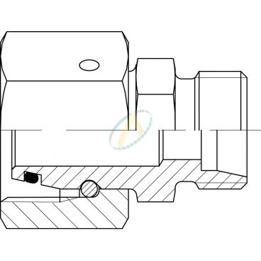 Réducteur droit mâle 10L DIN - femelle tournant 22L DIN