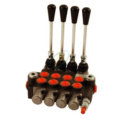 Distributeur hydraulique manuel monobloc 40 l/min 4 fonctions