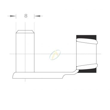 Axe acier pour fourche diamètre 8 mm