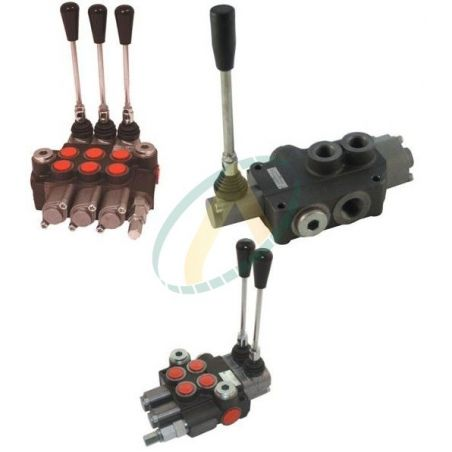 Distributeur 40 l/min hydraulique manuel monobloc de 1 à 7 fonctions