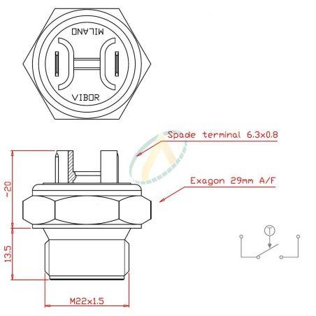 Schéma sonde de température pour refroidisseur hydraulique