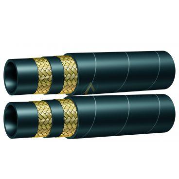 """Flexible hydraulique 2 tresses jumelé 2SC diamètre intérieur 10 mm (3/8"""") - 350 bars"""