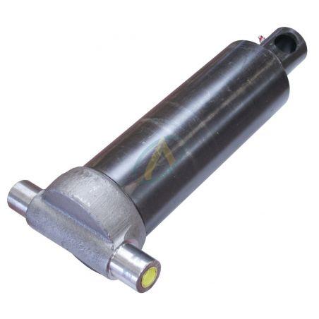 Vérin hydraulique télescopique 2 éléments tige : 61/76 fixation basse