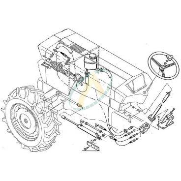 Direction hydrostatique pour SAME Falcon et Minitauro 60 (4 roues motrices)