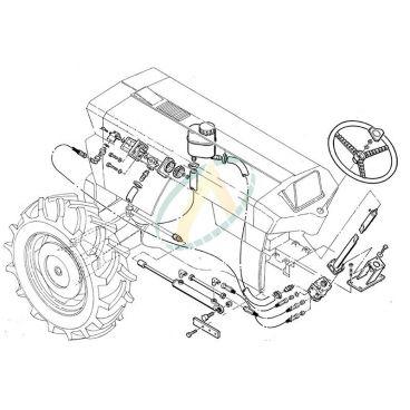 Direction hydrostatique pour SAME Corsaro 70 et Saturno 80 anciens modèles (2 ou 4 roues motrices)