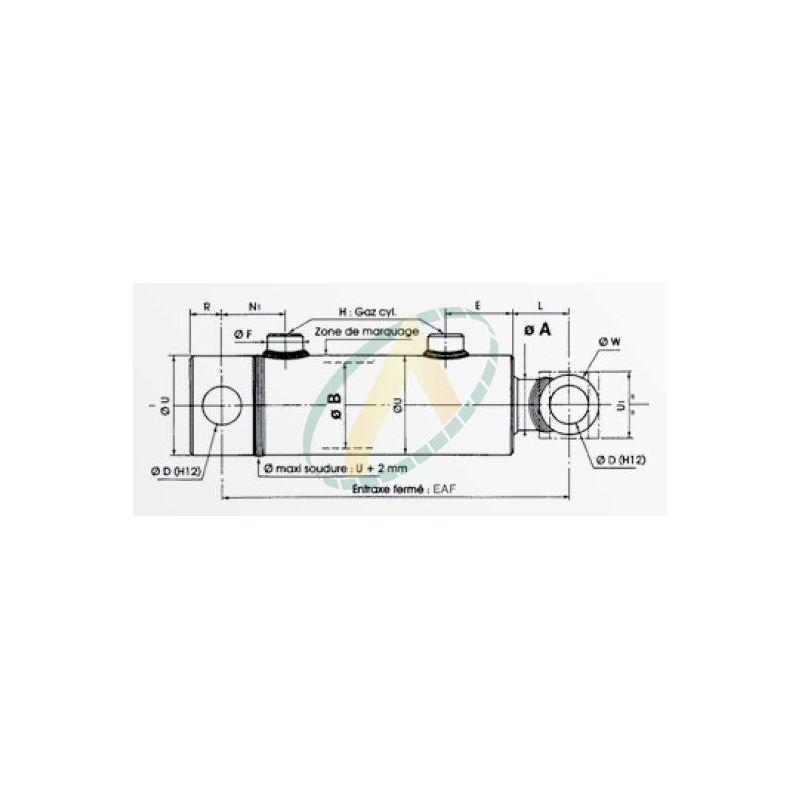 Tige 16 Piston 32 Vérin Hydraulique Double Effet Standard