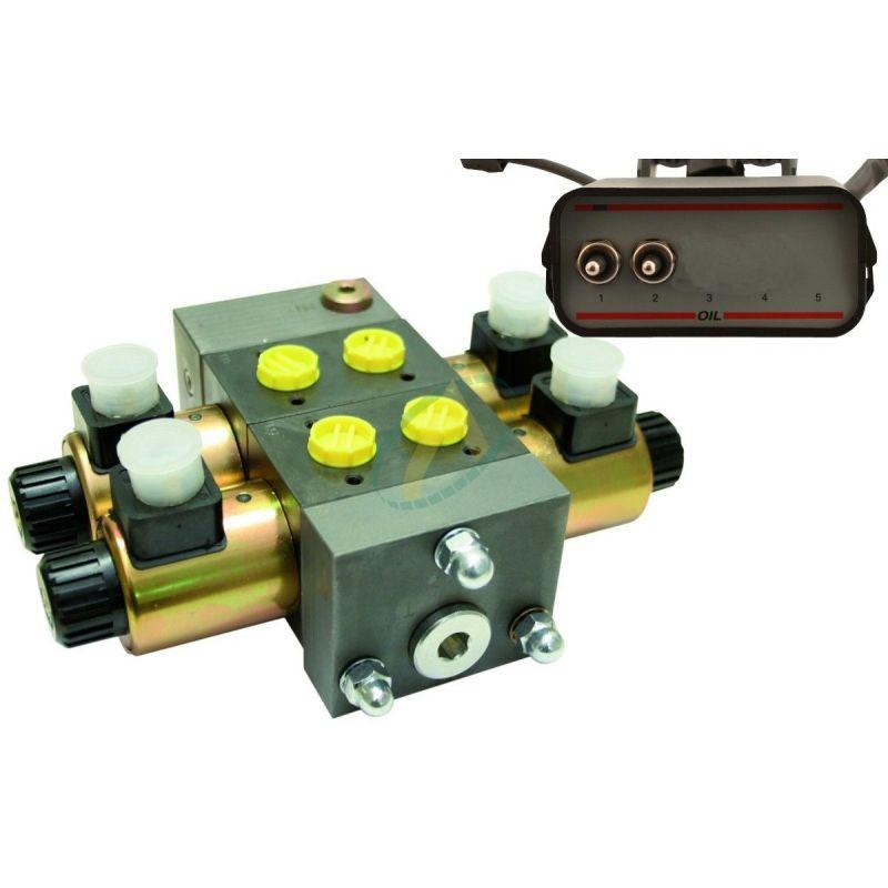 Distributeur électro-hydraulique 40l/min avec limiteur de pression 4 fonctions
