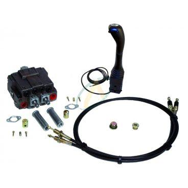 Distributeur 2 double effet pour chargeur frontal avec téléflexible et manipulateur