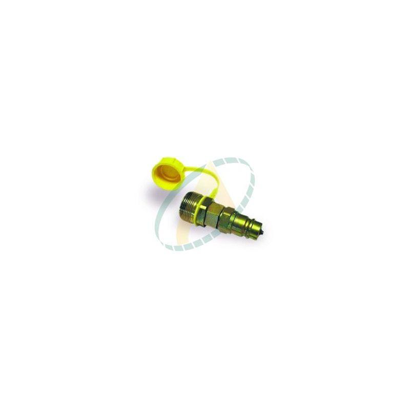 adaptateur coupleurs à clapet et valves à visser male