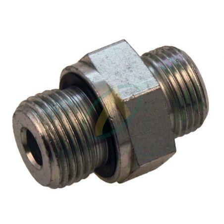 Raccord hydraulique droit mâle 10L / 1/4 3/8 1/2 BSP